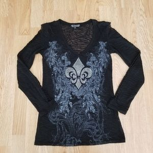 RK7 Rock Ulture Brand Long Sleeve Blouse
